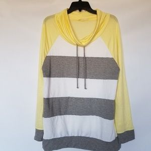 COCO& MAIN STRIPED PULL OVER TOP SIZE XL